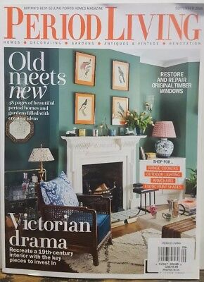 Period Living UK Sept 2018 Victorian Drama Old Meets New FREE SHIPPING CB