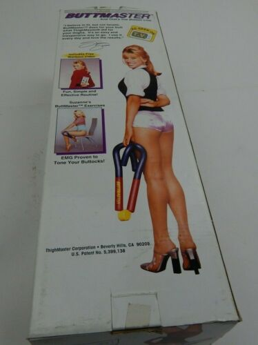 Suzanne Somers ButtMaster Sculpting Exerciser Open Box with Manual + VHS TAPE