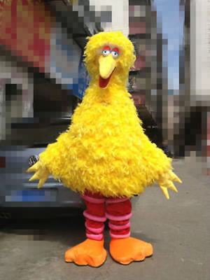 Hot Big Bird Sesame Street Mascot Costume Fancy Dress Adult Size Fast Shipping](Adult Big Bird Costume)