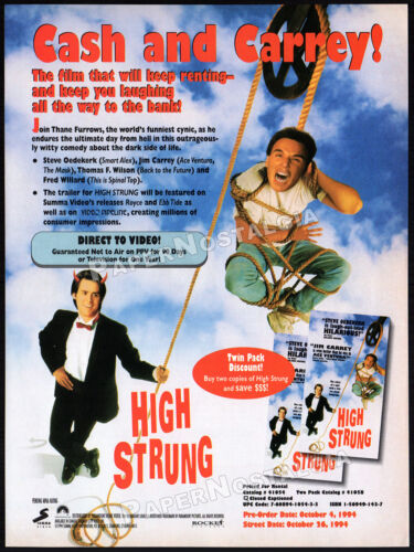HIGH STRUNG__Orig. 1994 Trade print AD / promo advert__STEVE OEDEKERK_JIM CARREY