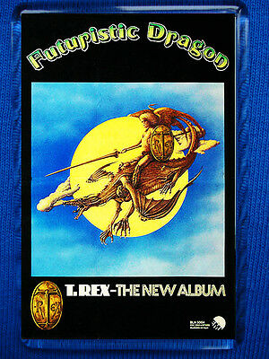 T.Rex Futuristic Dragon Poster Jumbo Fridge Magnet Marc Bolan David Bowie