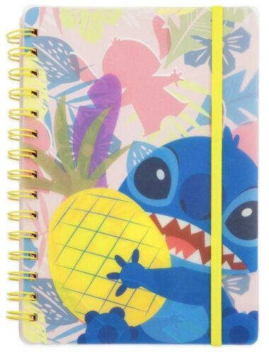 Disney Lilo & Stitch ~Stitch Holding Pineapple Paperback Spiral Journal Notebook