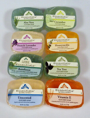 Clearly Natural Glycerin Soap Bar Choose 2 Pack 4 Oz  Aloe Vera Unscented & More (Clearly Natural Glycerine Soap)