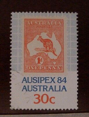 1 Stamp Australia Ausipex 84 - 1984: 1 Variety Stamp on Stamp * One Penny - USED