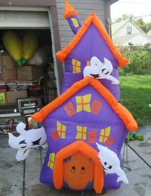 Halloween Inflatable 7 foot Totally Ghoul Haunted House NICE in box Airblown