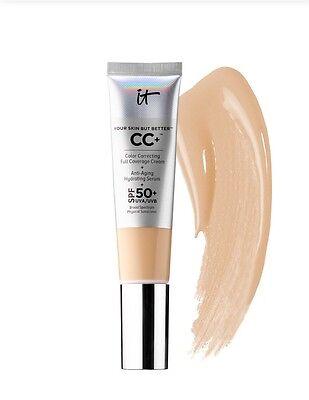 IT Cosmetics CC+ COLOR CORRECTING FULL COVERAGE CREAM + SERUM SPF50 Fair 1.08oz