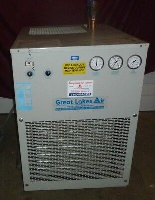 Great Lakes Refrigerated Air Dryer Drying Unit Model Grf-250 1.5 Hp 460v 3ph