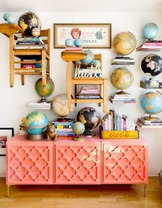 Vintage desk globe, perfect for home staging