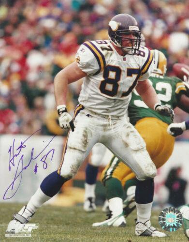 Minnesota Vikings Hunter Goodwin   autographed 8x10 action  photo