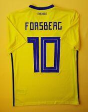 Peter Forsberg Sweden soccer jersey small 2018 shirt BR3838 Adidas ig93 | eBay