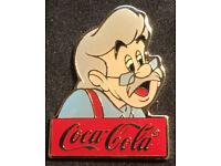 Disney Pin~Stromboli~15th anniversary~WDW~1986~Coca Cola~Coke~Pinnochio