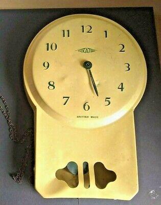 Rare retro Vintage Metal Wall TICK A TIME British clock 11x7.5x 1.5