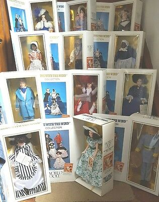 SET OF 12 WORLD DOLL GONE WITH THE WIND DOLLS ALL MINT IN BOXES