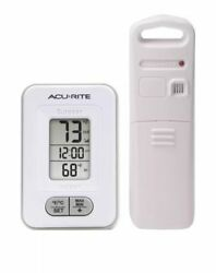 AcuRite Model # 02044W1 Wireless Indoor/Outdoor Thermometer w/ Clock/FREE SHIP!!