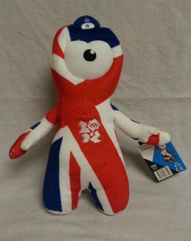 Plush Union Flag Wenlock London Olympics 2013 10.5 inches tall