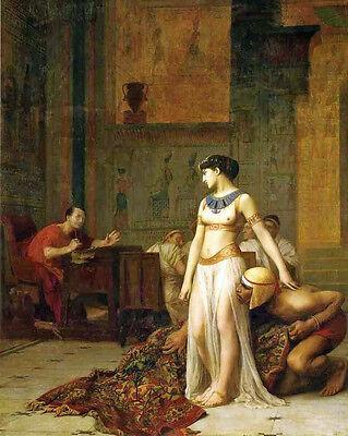 Caesar Cleopatra (Cleopatra Queen Of Egypt & Julius Caesar Rome Painting Real Canvas Art Print)