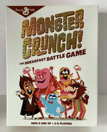 Monster Crunch! Cereal Game Boo-Berry Fruit Brute Yummy Mummy General Mills NEW