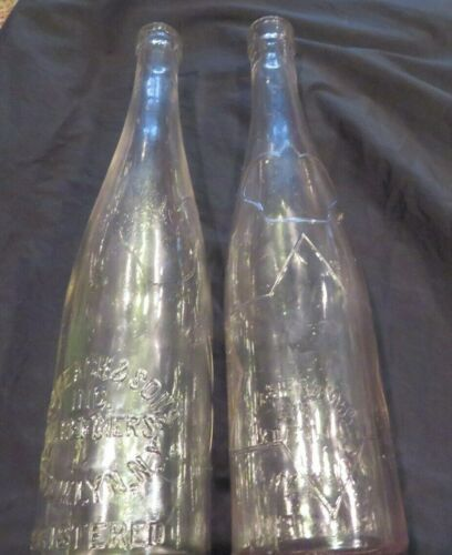 "Vintage ""I ROKEACH & SONS"" Brooklyn NY Oil Refinery Glass Bottle 11"""