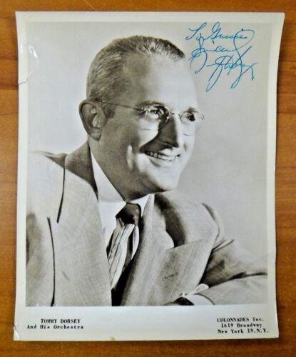 Tommy Dorsey Famous Band Leader (Dec. 1956) Signed 8x10 Photo w/ Full JSA Letter