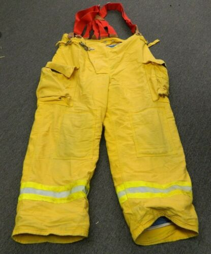 FYREPEL Turnout Gear Firefighter Bunker Pants w/ Suspenders Size X-LARGE #7