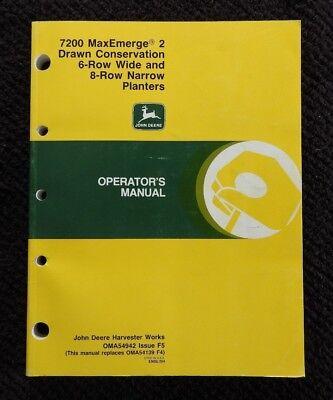John Deere 7200 Maxemerge 2 6 Wide 8 Row Narrow Drawn Conservatin Planter Manual
