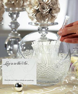 24 Love Bubble Wands Confetti Alternative Wedding Favors (Wedding Bubble Wands)