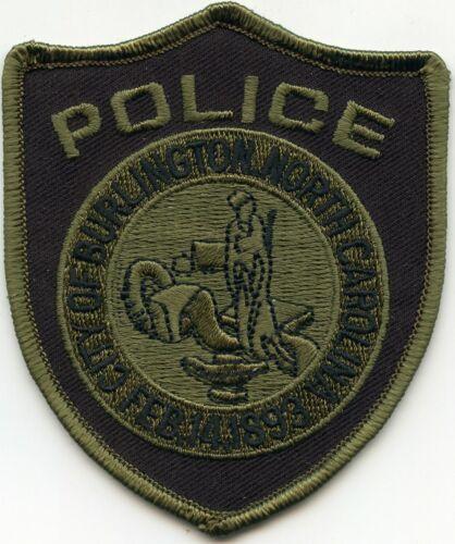 BURLINGTON NORTH CAROLINA NC Green Border POLICE PATCH