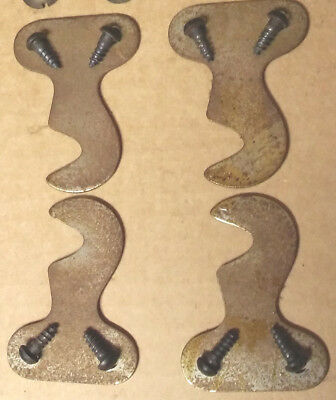4 antique singer sewing machine drawer mounting brackets and screws for legs