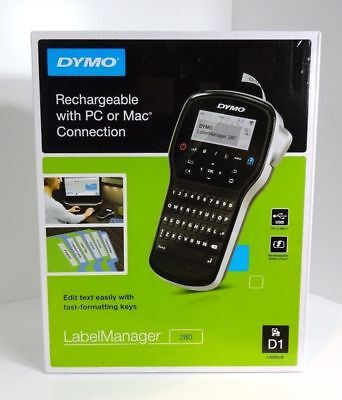 Dymo Label Manager 280 Rechargeable Handheld With Pc Mac  1815990    Brand New