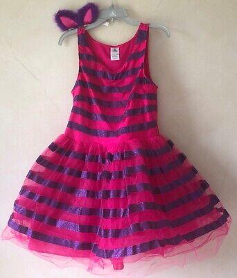 DISNEY STORE CHESHIRE CAT TUTU COSTUME DRESS HEADBAND JUNIORS L ALICE WONDERLAND](Cheshire Cat Costume Girl)