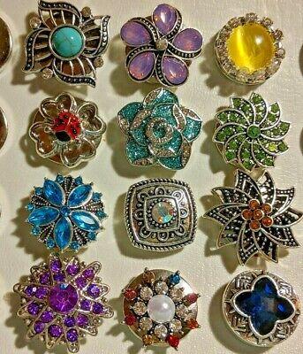 Snap On Interchangeable Jewelry Button fits 18mm Bracelets, Rings, Pendants