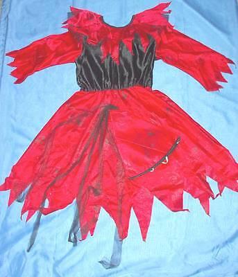 Halloween Hexe Kostüm Kleid für Mädchen Gr 140/152
