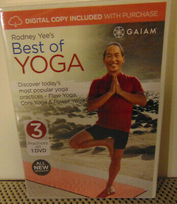 Rodney Yee's Best of Yoga Fitness Training Exercise 3 Workouts Video DVD