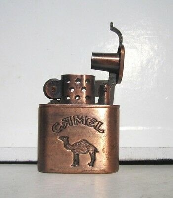 "2=1+1 VINTAGE BIG SALE: CAMEL LIGHTER COPPER 2""H x1.7""W  +B & W CIGARETTE PAPERS"