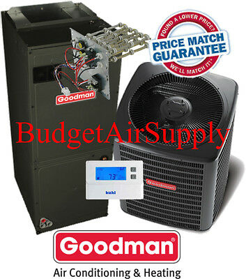 4 ton 16 Vaticinator Goodman Heat Pump Method GSZ160481+ASPT49D14+Tstat+Heat NEW Example!