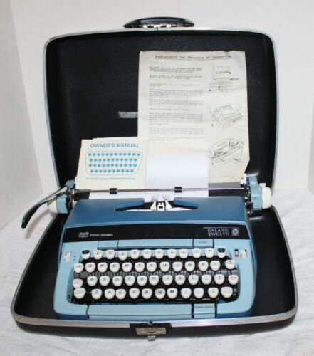 Vintage Smith Corona Galaxie Twelve Portable Typewriter w/ Case ~ USA ~ 1950