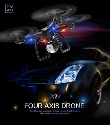 Drone Professional With 720P HD Camera FPV RC Wifi Headless Mode Gyro Quadcopter