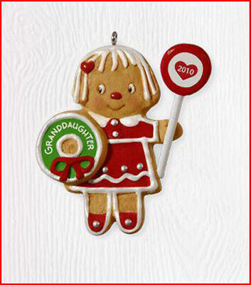 2010 Hallmark GRANDDAUGHTER Ornament GINGERBREAD COOKIE GIRL Daughter Hallmark Ornament