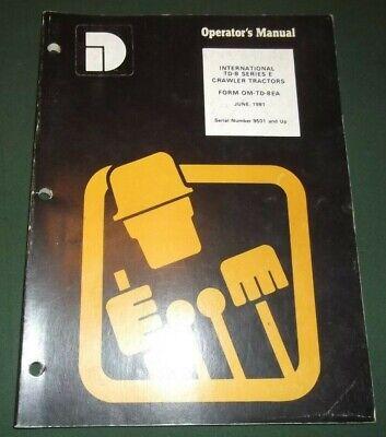 Komatsu Dresser Td-8-e Dozer Operator Operation Maintenance Manual Book