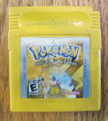Authentic Pokemon Yellow Version Pikachu * New Battery Installed * - Tested