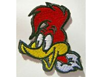 "Woody Woodpecker Head Pose 2/"" Tall Set of 3 Embroidered Patches"