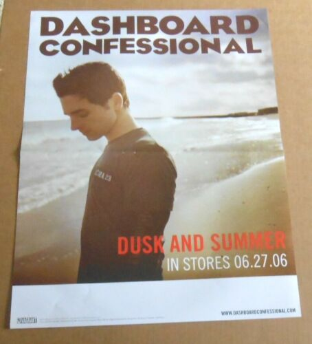 Dashboard Confessional Poster 2-Sided Promo 2006 Original 18x24