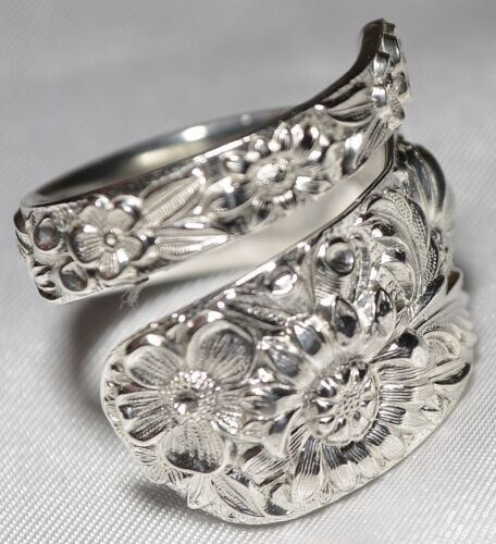 BRILLIANT!! KIRK REPOUSSE Sterling Spoon Ring Size 7 ( But Sizable) Free Ship