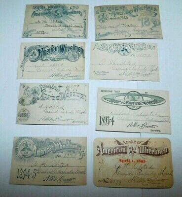 1890's Grand Rapids Michigan League of American Wheelmen Member Tickets