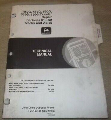 John Deere 450g 455g 550g 555g 650g Dozer Technical Service Repair Manual Tm1404