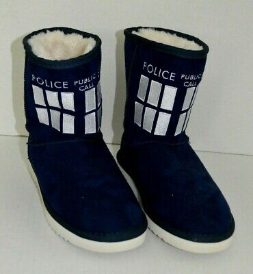 Tardis Slippers (DOCTOR WHO - TARDIS SLIPPERS 2009 BBC RARE Womans Size)