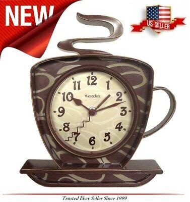 NEW Coffee Mug Cup Wall Clock, Teapot Time keeper Home Kitch