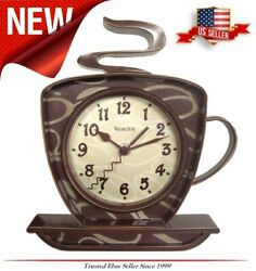 NEW Coffee Mug Cup Wall Clock, Teapot Time keeper Home Kitchen Decor 3-D Wall