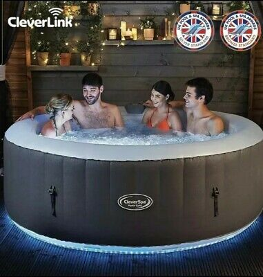 BNIB CleverSpa Monte Carlo 6 Person LED Hot Tub with Cleverlink