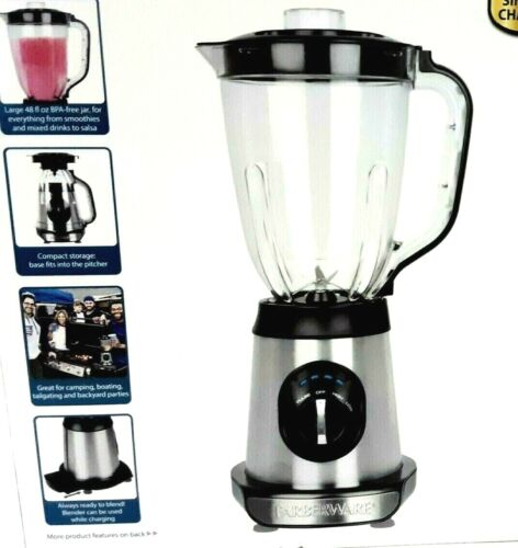 Cordless Blender Rechargeable Battery Powered Dual Speed Portable Travel 2 Speed